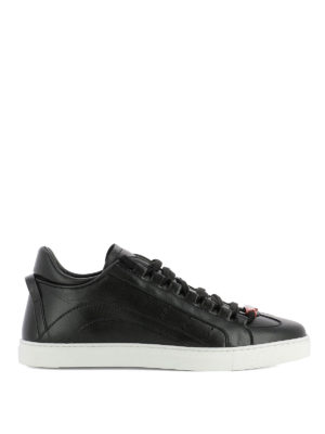 Dsquared2: trainers - 551 black leather sneakers