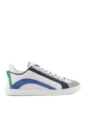 DSQUARED2: sneakers - Sneaker 551 bande blue e verdi