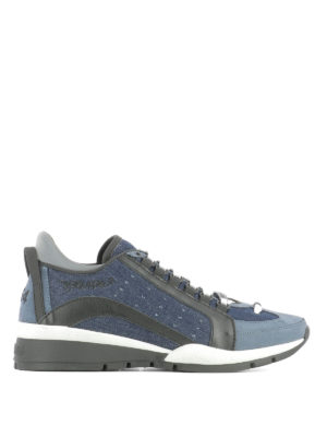 Dsquared2: trainers - 551 denim and leather sneakers