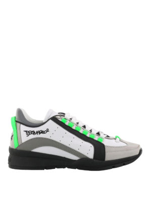 Dsquared2: trainers - 551 fluo detail leather sneakers