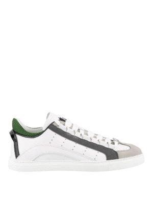 702170994fb DSQUARED2  sneakers - Sneaker 551 in pelle con talloncino verde