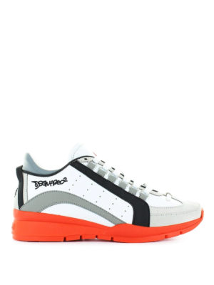 DSQUARED2: sneakers - Sneaker 551 in pelle e nabuk