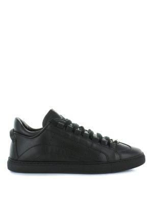 DSQUARED2: sneakers - Sneaker 551 in pelle liscia nera