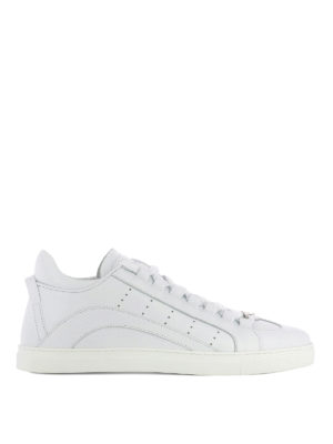 Dsquared2: trainers - 551 total white leather sneakers