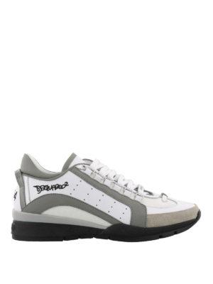 DSQUARED2: sneakers - Sneaker 551 leggere bianche grigie