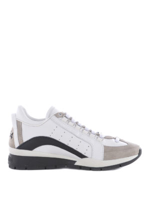 Dsquared2: trainers - 551 white leather & suede sneakers