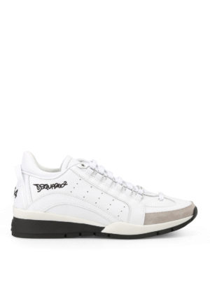 Dsquared2: trainers - 551 white leather sneakers
