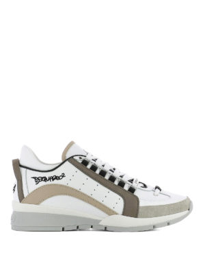 Dsquared2: trainers - 551 white sneakers