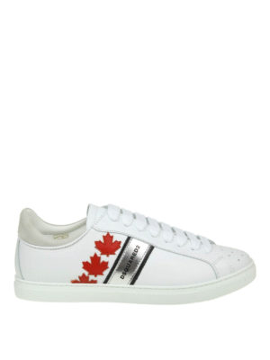 DSQUARED2: sneakers - Sneaker Canadian Team in pelle