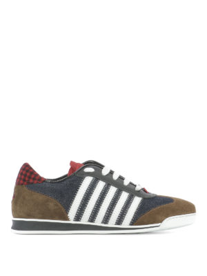 Dsquared2: trainers - Denim sneakers with inserts