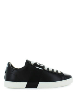 DSQUARED2: sneakers - Sneaker Icon Low in pelle nera