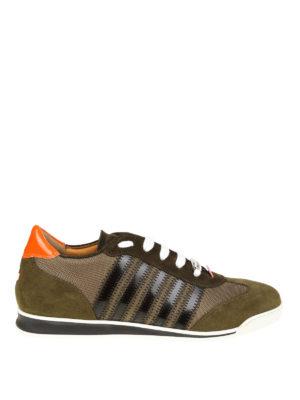 DSQUARED2: sneakers - Sneaker New Runner color verde marcio