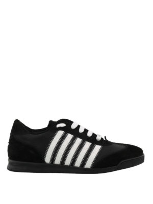 Dsquared2: trainers - New Runner black flat sneakers