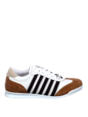 Dsquared2: trainers - New Runner brown details sneakers