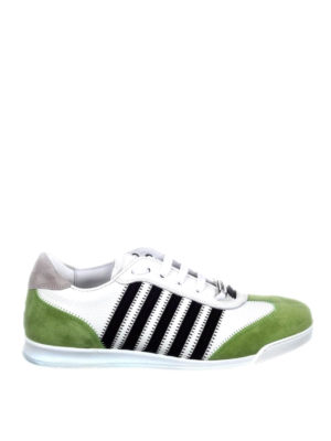 Dsquared2: trainers - New Runner green details sneakers