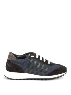 Dsquared2: trainers - New Runner Hiking denim sneakers