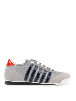 DSQUARED2: sneakers - Sneaker New Runner suede e vernice