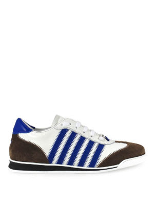 DSQUARED2: sneakers - Sneaker New Runner in pelle e suede