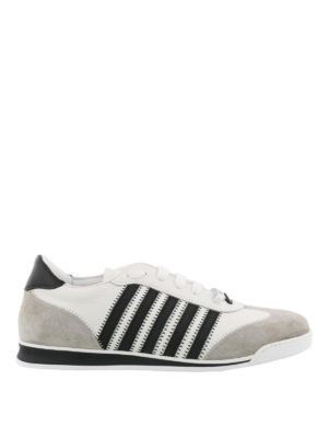 Dsquared2: trainers - New Runner white flat sneakers