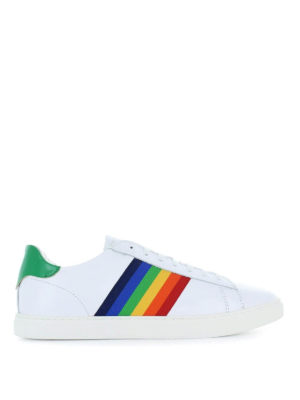 DSQUARED2: sneakers - Sneaker New Tennis con arcobaleno