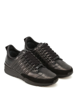 Dsquared2: trainers online - 251 black leather sneakers