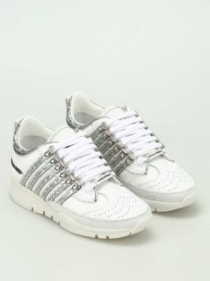 Dsquared2: trainers online - 251 leather and fabric sneakers