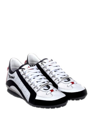 Dsquared2: trainers online - 551 bicolour leather sneakers