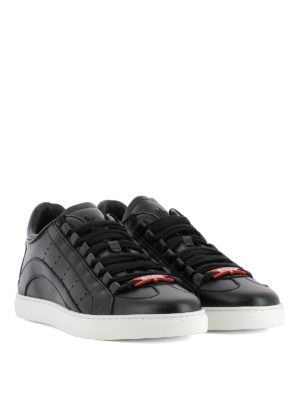 Dsquared2: trainers online - 551 black leather sneakers