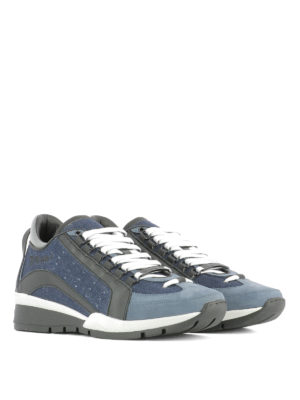 Dsquared2: trainers online - 551 denim and leather sneakers