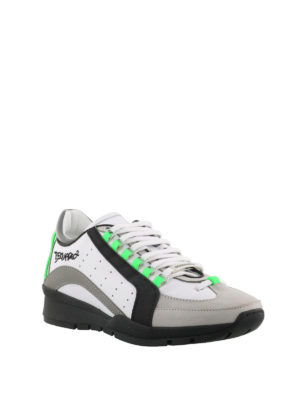 Dsquared2: trainers online - 551 fluo detail leather sneakers