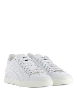 Dsquared2: trainers online - 551 total white leather sneakers