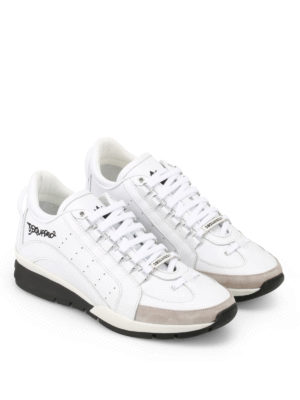 Dsquared2: trainers online - 551 white leather sneakers