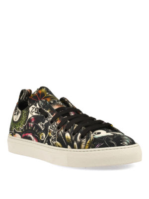 Dsquared2: trainers online - Basquettes printed cotton sneakers