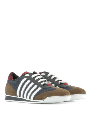 Dsquared2: trainers online - Denim sneakers with inserts