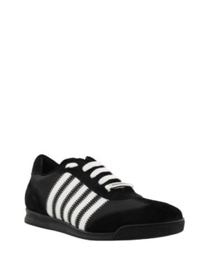 Dsquared2: trainers online - New Runner black flat sneakers