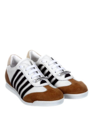 Dsquared2: trainers online - New Runner brown details sneakers