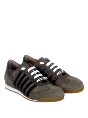 Dsquared2: trainers online - New Runner fabric and suede sneaker