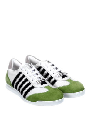 Dsquared2: trainers online - New Runner green details sneakers
