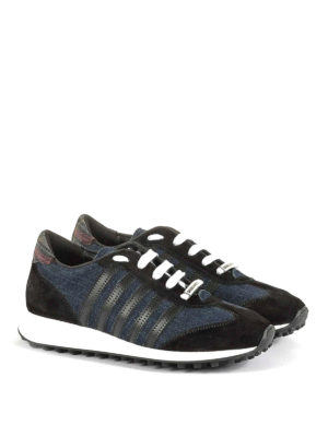 Dsquared2: trainers online - New Runner Hiking denim sneakers