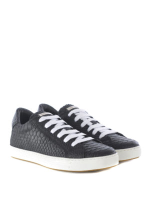 Dsquared2: trainers online - Reptile print leather sneakers