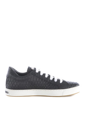 Dsquared2: trainers - Reptile print leather sneakers
