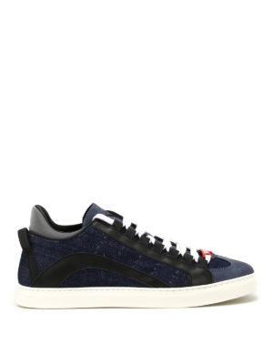DSQUARED2: sneakers - Sneaker Runner n denim e nappa