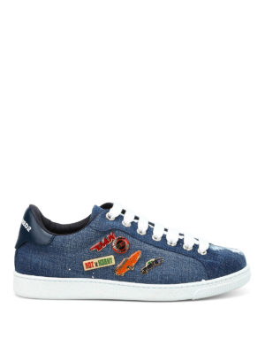 Dsquared2: trainers - Santa Monica denim sneakers