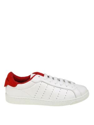DSQUARED2: sneakers - Sneaker Santa Monica bianche e rosse
