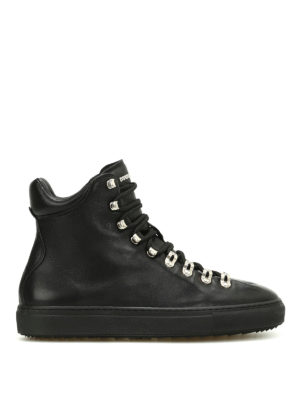 Dsquared2: trainers - Whistler leather high-top sneakers