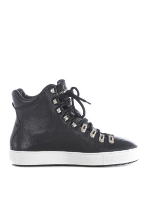 Dsquared2: trainers - Whistler leather high top sneakers