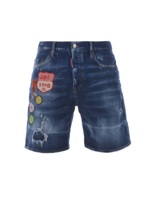 Dsquared2: Trousers Shorts - Medium Stormy Boxer denim shorts