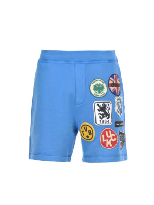 Dsquared2: Trousers Shorts - Multicolour crest cotton shorts