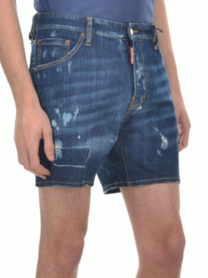 Dsquared2: Trousers Shorts online - Distressed denim short pants