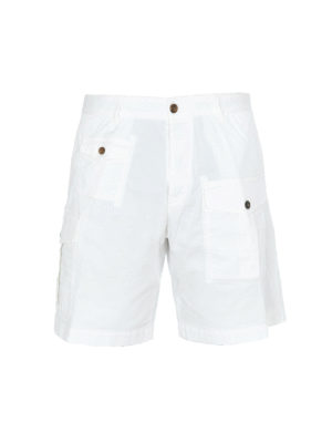 DSQUARED2: Trousers Shorts - White cargo bermuda shorts